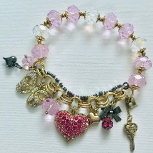 Betsey Johnson Bows/Hearts Stretch Bracelet